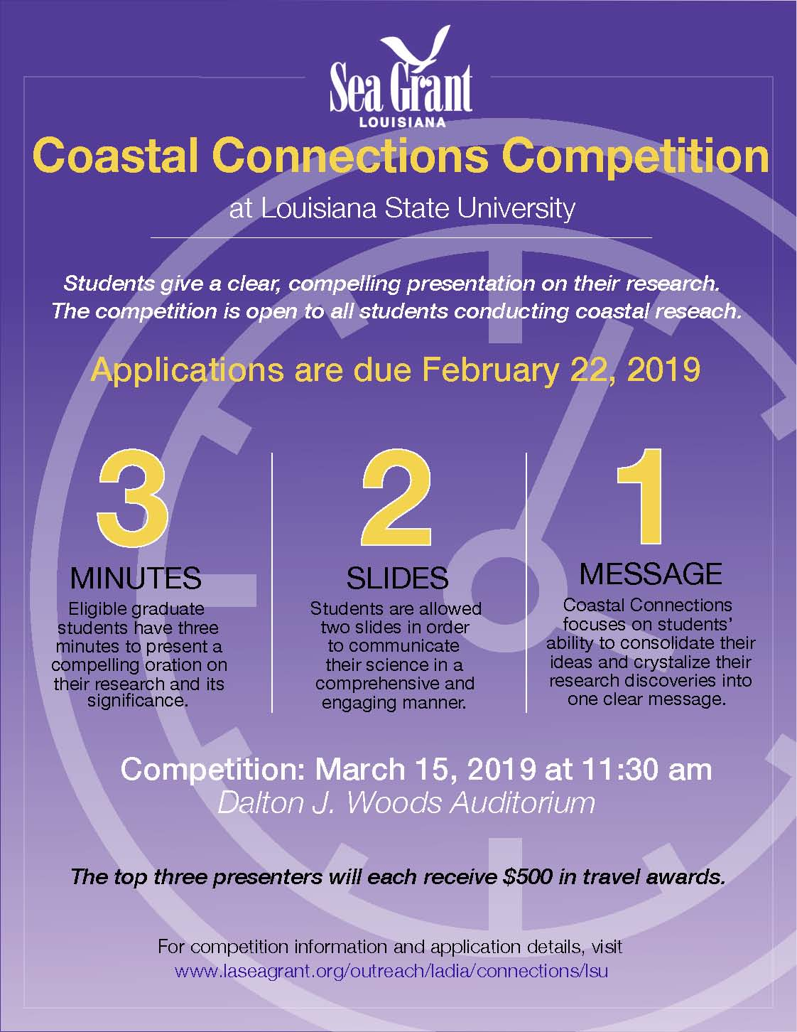 Coastal Connections Competition flyer