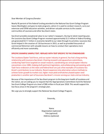 Sample Letter Of Support For Grant from www.laseagrant.org